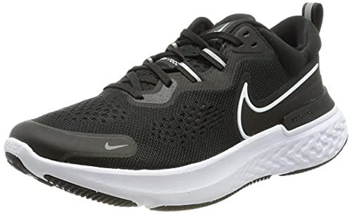Nike React Miler 2, Zapatillas para Correr Hombre, Black White Smoke Grey, 45 EU