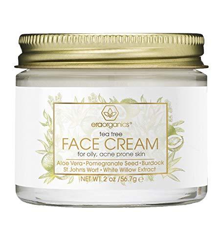 Tea Tree Oil Face Cream - For Oily, Acne Prone Skin Care Natural & Organic Facial Moisturizer with...