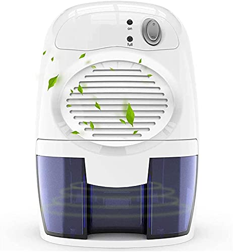 Deumidificatore domestico 500mlMini, bianco, deumidificatore a semiconduttore domestico, deumidificatore compatto ultra-silenzioso, assorbimento istantaneo dell'umidità, deumidificazione rapida