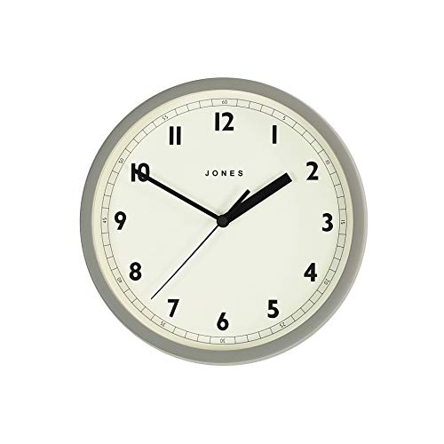 Jones Clocks Small Round Wall Clock - The Spin - Perfect as a Kitchen Clock, Living Room Wall Clock or for any Small Space - 20cm / 8'