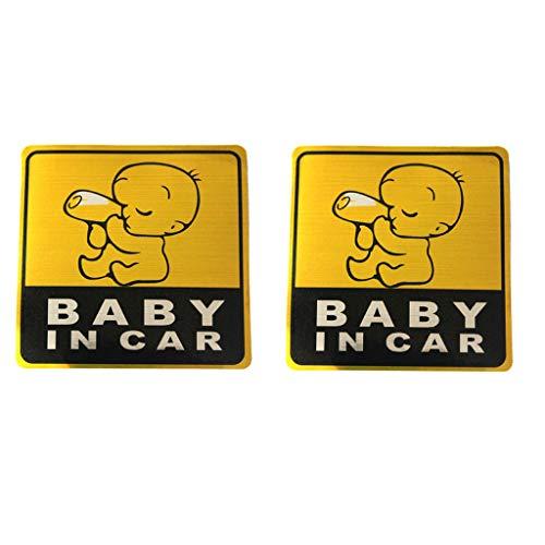 Signe de Bébé à Bord, Bébé en Voiture, Autocollants de Voiture de Sécurité Signe de Réflexion Magnétique pour Votre Voiture