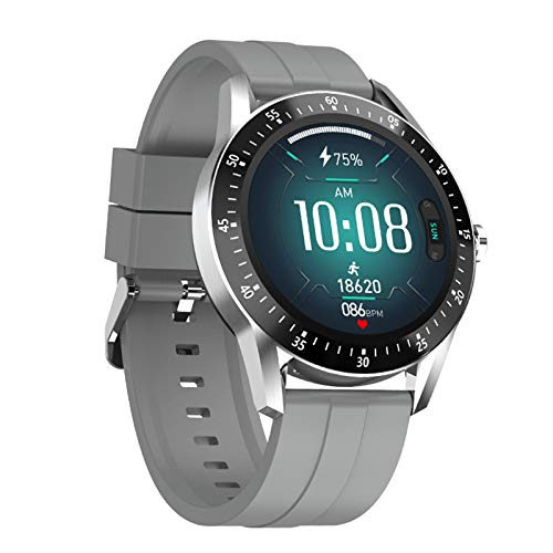 ZEIYUQI Smart Watch,Cardio Smart Watch,Heart Rate And Blood Pressure Monitoring,1.28 Inch IPS 240x240,Sports Smart Wristband,Indoor And Outdoor Sports Bracelet Calories Sports Mileage Record,Grey