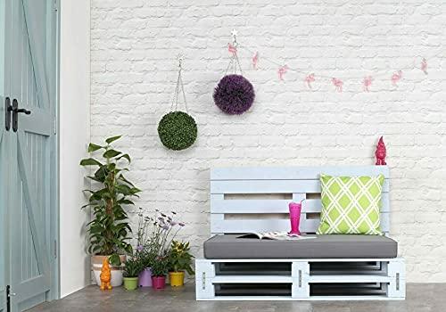 Dydaya Home Sofa de palets - Sillones de palets para Interior, Exterior, Salon, Jardin, Terraza, Patio (120 cm Ancho x 80 cm...