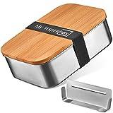 My Vesperbox – NEU - Edelstahl Brotdose - Lunchbox - extrem robust – Vesperdose – Brotbox ideal für Kindergarten, Schule und Büro (800 ml mit Variabler Trennwand)