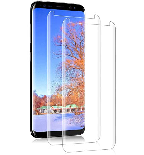HCHYU S8 Screen Protector [2Pack], S8 Tempered Glass [Alignment Frame][3D Curved][Case Friendly] Easy Installation Screen Protective Film for Samsung Galaxy S8