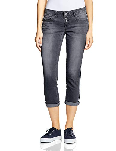 Street One Damen 372231 Crissi Slim Jeans, Grau (Authentic Grey Random Bleach), 31W/26L