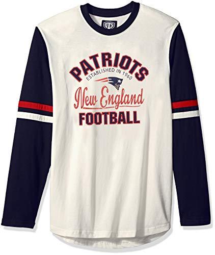 OTS NFL New England Patriots Men's Chisel Long Sleeve Crew Tee, Chisel, X-Large
