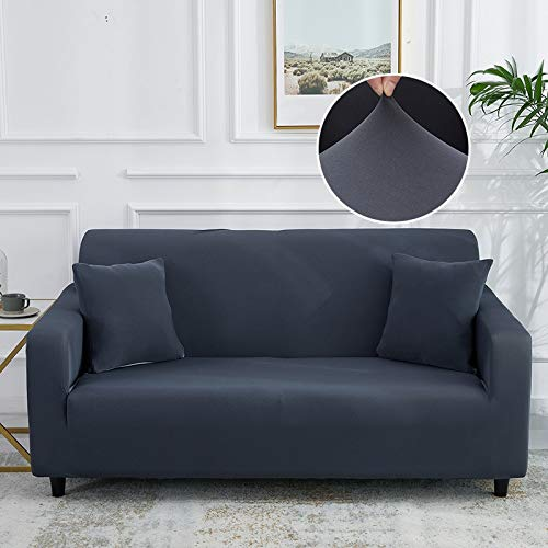 WXQY Gray elastic sofa cover tightly packaged all-inclusive sofa cover living room sofa cover chair sofa cover armchair A10 1 seater
