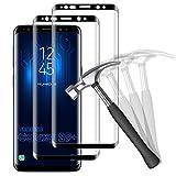 NUOCHENG [2 Pack Cristal Templado para Samsung Galaxy S9 Plus/S9+, [Dureza 9H] [Sin Burbujas] [Resistente a rayones],Cobertura Completa HD Protector Pantalla Galaxy S9+