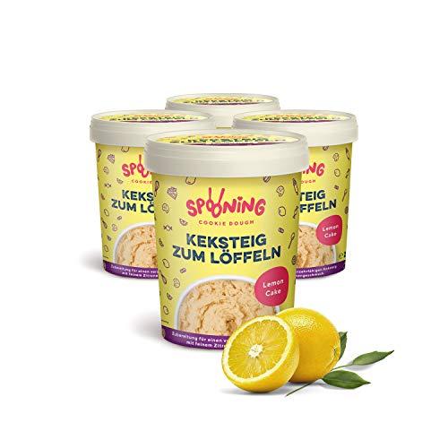 Original Spooning Cookie Dough Keksteig zum Löffeln / Keksteigmischung – 4x 215G – Lemon Cake | Vegan