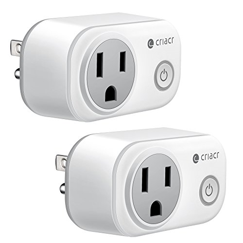 Cricar Smart Plug, WiFi Enabled Mini Smart Switch Sockets, Timing Function, Work with Amazon Alexa...