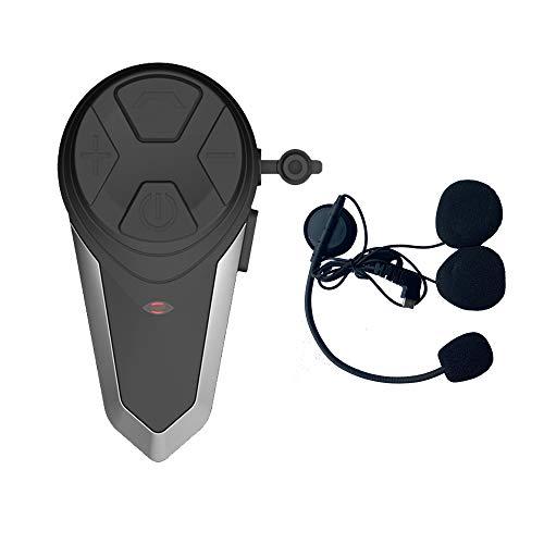 BT-S3 1000M Auricular Bluetooth Motocicleta Intercom Motorcycle Casco Intercom Interphone Auricular Bluetooth Ideal para Montar a Caballo/Esquiar(Cable Duro,1 Pieza)