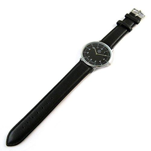 Trendy [N9858] - Designer-Uhr 'Trendy' Silber schwarz (schmal).