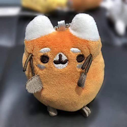Juguetes de peluche Botón pequeña suaves animales de peluche llavero lindo del dibujo animado del gato de peluche de juguete llavero Mochila clave relleno felpa Mini juguete de felpa, color: G-7 cm Am