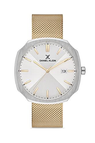 Daniel Klein Reloj de pulsera para hombre Octogon (DK12652) – Correa de malla – Relojes analógicos de moda de 42 mm – Movimiento de cuarzo japonés – Índices de palo, delgado – muchos colores