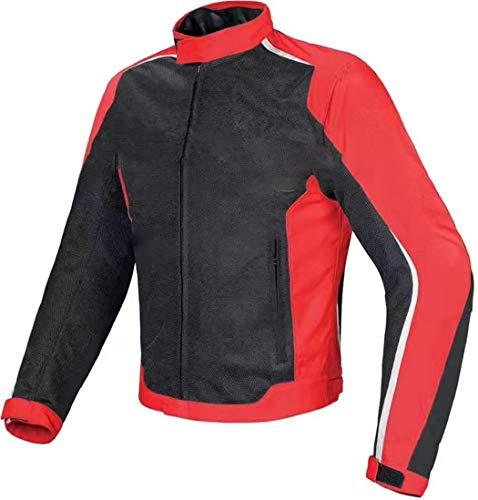 Chaqueta de Montar Motocicleta para Hombre, Ropa de Verano de Malla de Verano Ropa de Carreras roja, Equipo de protección de la Motocicleta Black Red 3XL