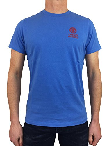 Franklin and Marshall TSMF350ANS18 - Camiseta de cuello redondo para hombre, color azul