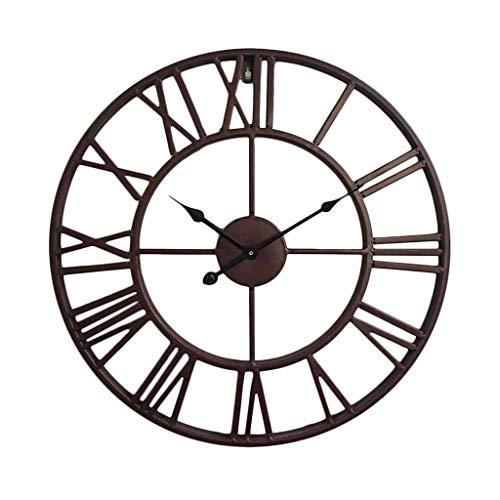 TIMEZLC ronde wandklok, stille beweging industriële stijl metalen klok juiste tijd wandmontage decoratie
