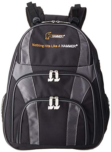 (Black/Carbon) - Hammer Deuce Two Ball Bowling Backpack