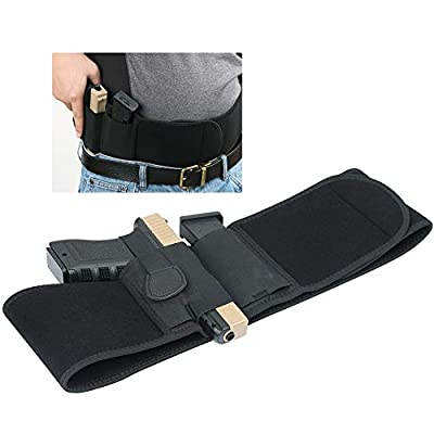 Twod Belly Band Holster for Concealed Carry Belly Belt Holster -Comfortable Neoprene Inside Waistband Holster with Elastic Hand Gun Holder for Pistols - Fits Glock, Ruger, Sig Sauer, S&W M&P