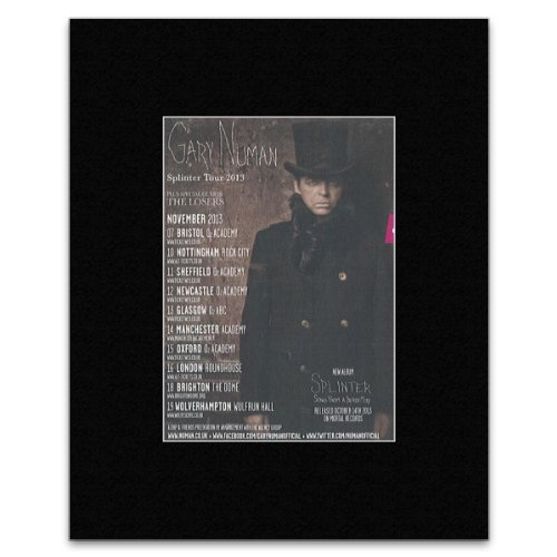 Uncut GARY NUMAN - Splinter Tour 2013 Matted Mini Poster - 13.5x10cm