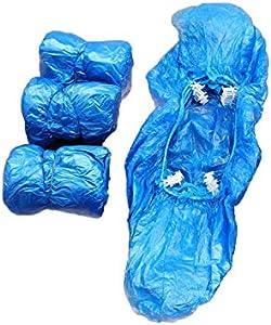 100pcs Cubrezapatos Desechables Fundas de Plástico CubrezapatLos Antideslizantes para Dispensador de Zapatos aboratorio Hogar Oficina