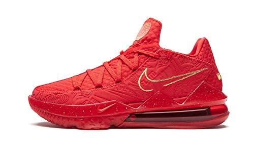 Nike Mens Lebron 17 Low Titan University Red/Metallic Gold - University Red/Metallic Gold Cd5008 600 - Size 12