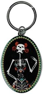 evilkid, Catrina Día de los muertos, Original oficial, elegante brillante metal Llavero troqueladas