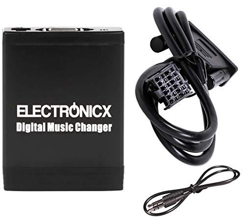 Electronicx Elec-M06-FRD1Adattatore MP3 USB SD AUX compatibile con Ford 12 Pin C-Max Cougar Escort Explorer Fiesta Focus