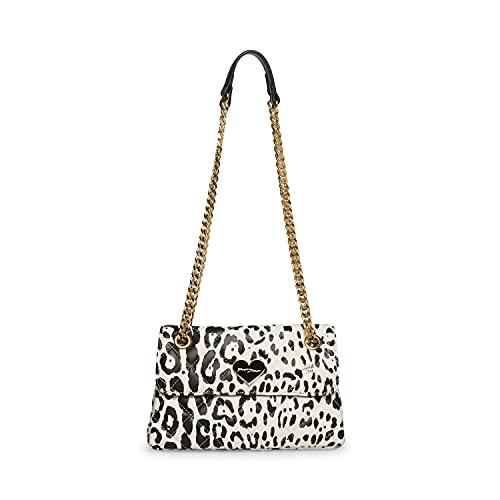 Betsey Johnson Damen Crossbody Snow Leopard, weiß/schwarz, Einheitsgröße