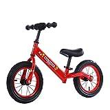 Bicicleta sin Pedales para Niños 2-6 años Mini Bici Bebés Infantil Andadores Bebé Equilibrio (niños, Azul),Red,12