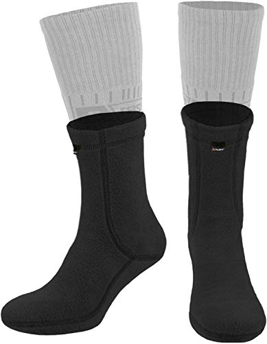 281Z Hiking Warm Liners Boot Socks - Military Tactical Outdoor Sport - Polartec Fleece Winter Socks (X-Large, Black)
