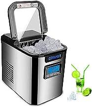 Machine à glaçons 150W Machine à glaçons prête en 6 Minutes 2.2L Machine à glaçons avec Pelle à Glace, Machine à glaçons à...