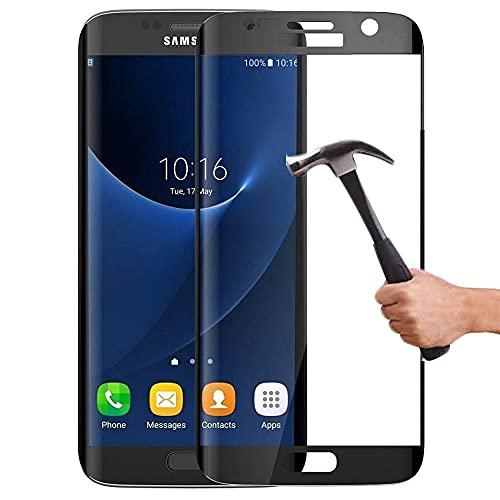 Lapinette Vetro Temperato Integrale Compatibile con Samsung Galaxy S7 - Pellicola Vetro Temperato Galaxy S7 Integrale - 9H Force Glass - Vetro Temperato Copertura Totale