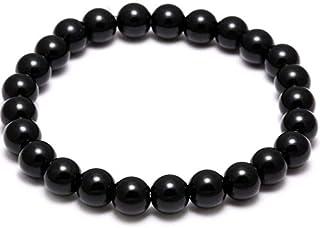 Black Tourmaline Bracelet Anti EMF Radiation Protection Negative Ions Balance Scalar Energy for Phone Home