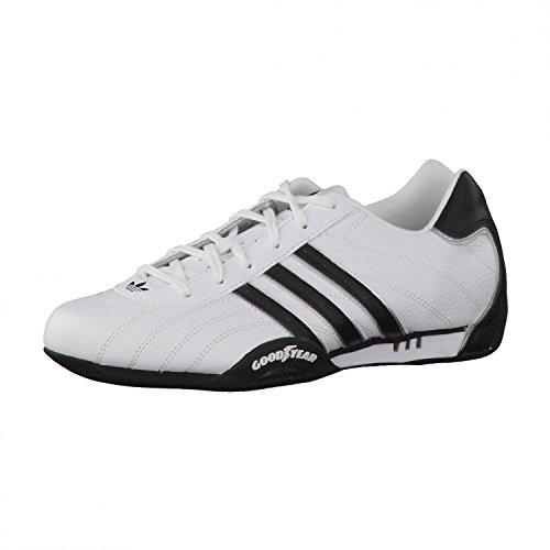 adidas Adi Racer Low - Zapatillas de charol para hombre, Blanco (White / Metallic Silver / Black), 40