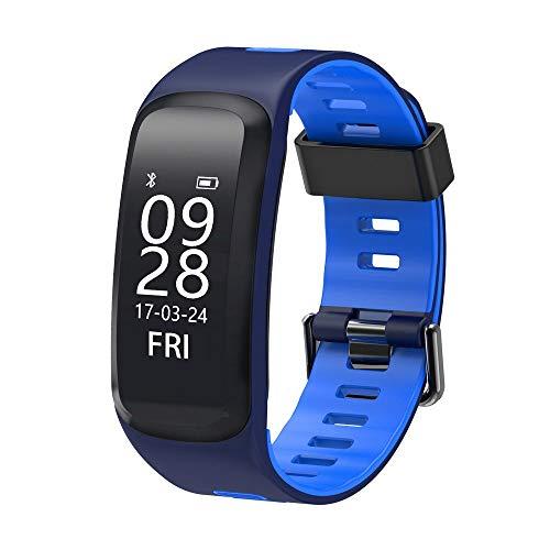 Aicarey F4Smart Fitness Pulsera IP68Resistente al Agua presión Arterial oxígeno Heart Rate Monitor Smartband Pulsera para iOS/Android