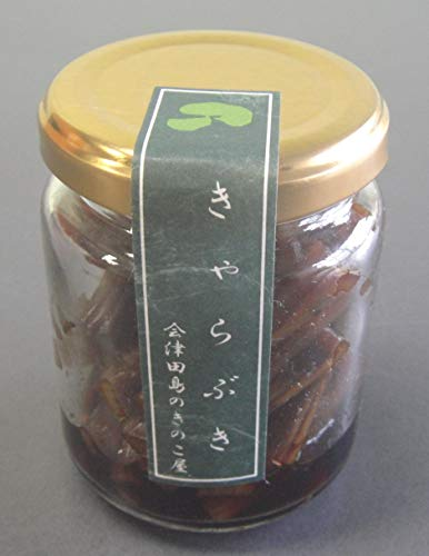会津物産 国内産紫花豆使用 きゃらぶき 小瓶 60g