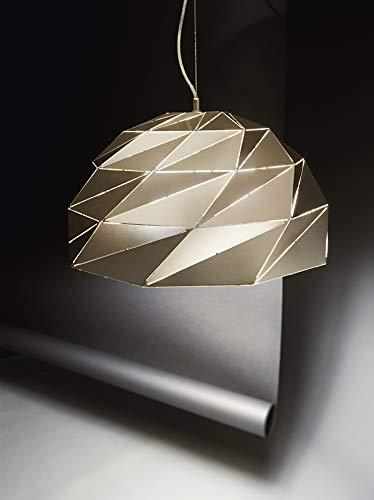 PERENZ Deckenleuchte aus Metall mit Lampenschirm Durchmesser 56 cm Leuchtmittel 3 x E27 max. 60 W nicht enthalten Höhe 150 cm verstellbar Oro Opaco