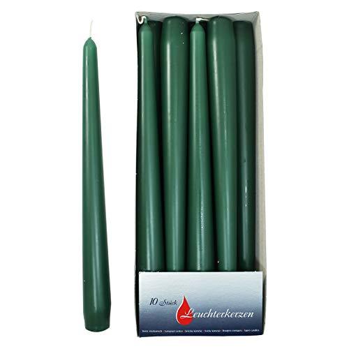 Ebersbacher Kerzen Spitzkerzen dunkelgrün, ca. 22 x 240 mm, 10 Stück/Pack