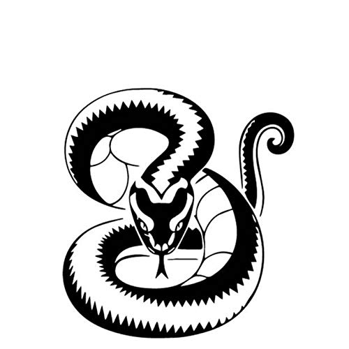 Kllomm 4 Pezzi 15.5 cm * 16.8 cm Serpente Decorare Adesivi per Auto Baule Auto Accessori Decalcomania del Vinile Adesivi Moto-Nero