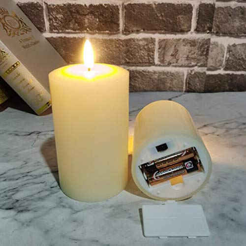 LED Flameless Candles, Tea Lights Battery Operated Flickering Candles, Realistic Electronic Fake Candle in Warm White and Wave Open