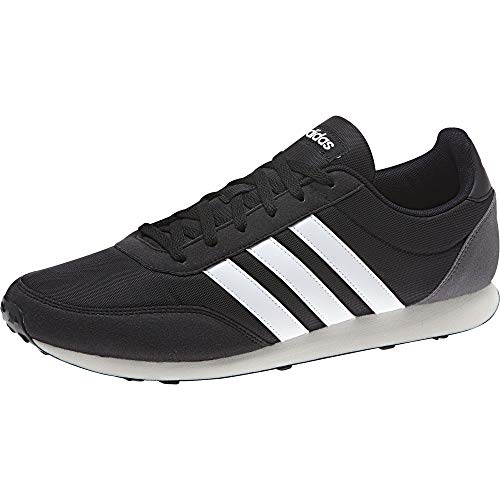 ADIDAS V Racer 2.0, Zapatillas para Hombre, Negro (Core Black/Solar Red/Footwear White), 43 1/3 EU