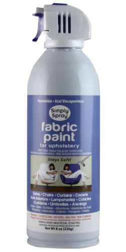 Simply Spray Upholstery Fabric Spray Paint 8 Oz. Can Periwinkle