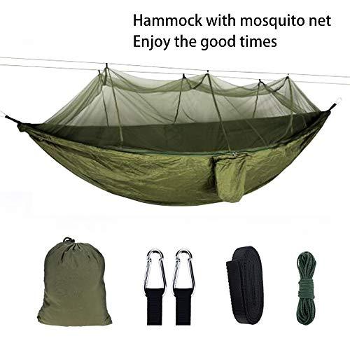 ADUGEN Hamaca multijugador Hamaca Ultraligera Cuenta de Mosquitos Hamaca de Camping al Aire Libre con 200 kg Hamaca de jardín 290 * 140 cm Hamaca de Camping de Viaje