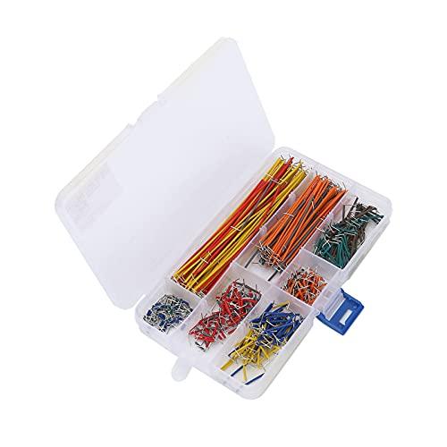 Cables De Puente, 560 Piezas Cables De Puente De Tablero Multicolor En Forma De U Con Caja De Almacenamiento Para Computadoras Para Lectores De Tarjetas Para MP3