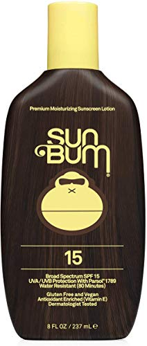 Sun Bum Original SPF 15 Sunscreen Lotion | Vegan and Reef Friendly (Octinoxate & Oxybenzone Free) Broad Spectrum Moisturizing UVA/UVB Sunscreen with Vitamin E | 8 oz