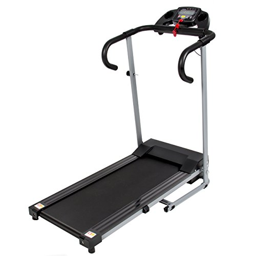 Best Choice Products Black 500W Portable Folding Electric Motorized Treadmill Running Fitness Machine