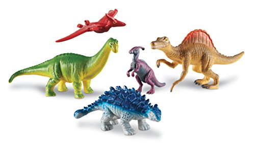 Learning Resources Jumbo Dinosaurs Expanded Set I Apatosaurus, Spinosaurus, Pteranodon, Ankylosaurus, Parasaurolophus, Set of 5, Ages 3+