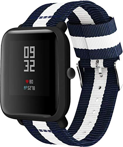 Chainfo Reloj Bandas Compatible con Garmin Vivoactive 3 (44MM) / vivoactive 3 Music/Vivomove Style – elección de Color, Longitud y Anchura – Correas de Nailon (20mm, Pattern 1)